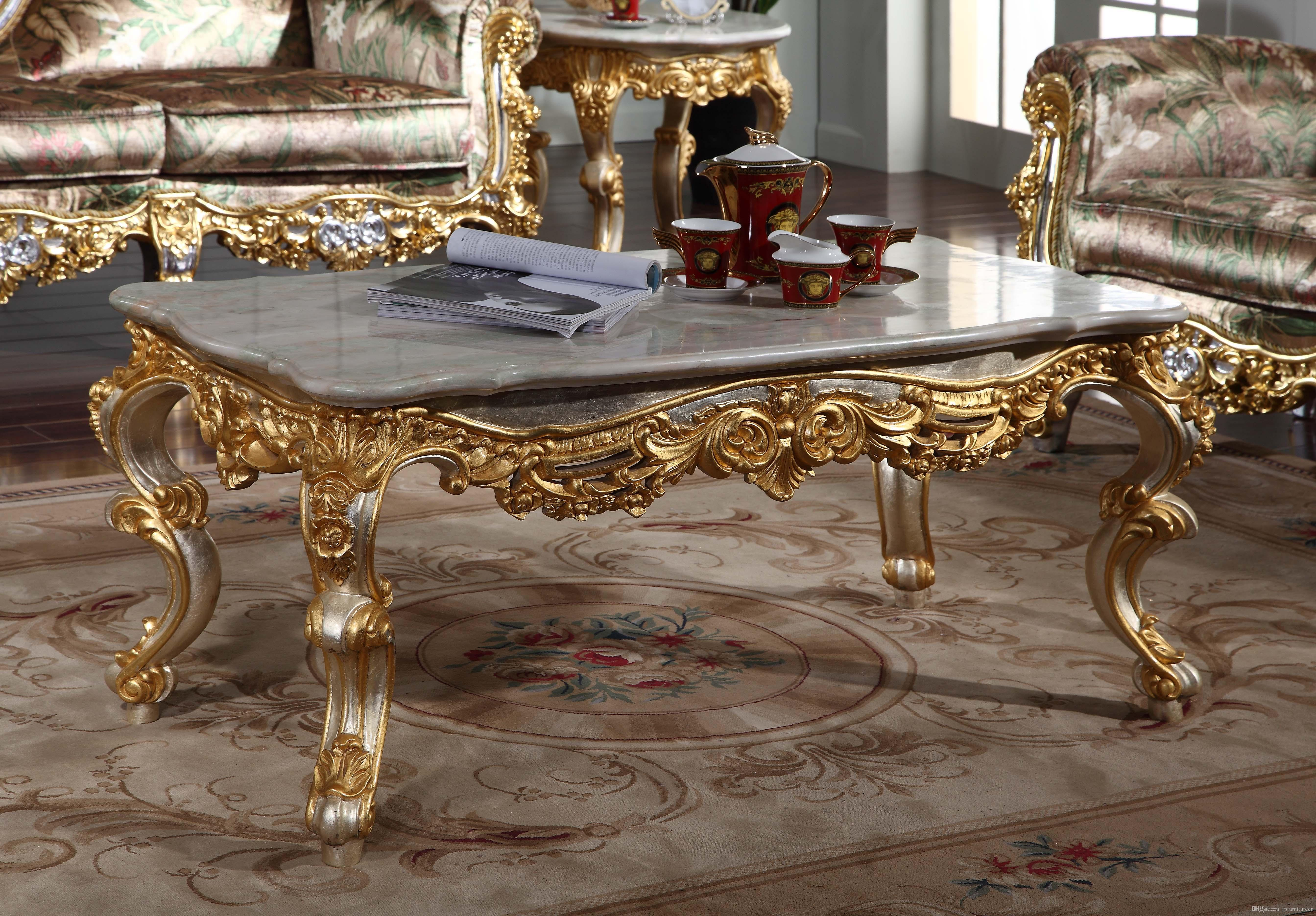 2019 Antique Baroque Living Room Furniture French Classic Coffee Table With Leaf Gilding Italian Coffee Table From Fpfurniturecn 141056