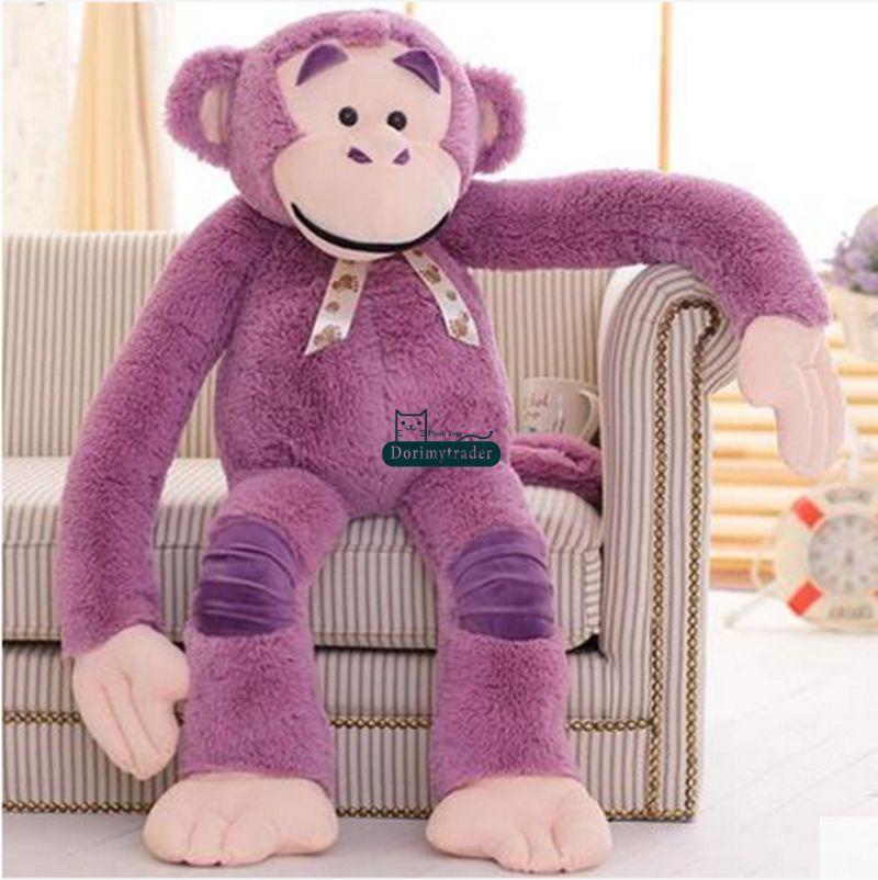 Dorimytrader 135cm Jumbo Stuffed Animal Orangutan Toy Plush Soft Funny 53'' Cartoon Monkey Doll 3 Colors Free Shipping DY61062