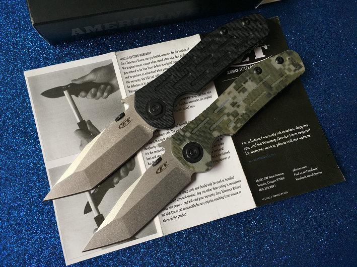 El colmo recomienda la tolerancia cero ZT0620 9cr18mov 58-59HRC supervivencia al aire libre del cuchillo de caza que acampa cuchillo plegable del envío 6pcs