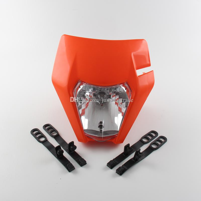 2017 Motorrad Dirt Bike Pitbike Motocross Universal Scheinwerfer lampe mit 12 v 35 watt H4 birne Für KTM SX EXC XCF SXF SMR etc.