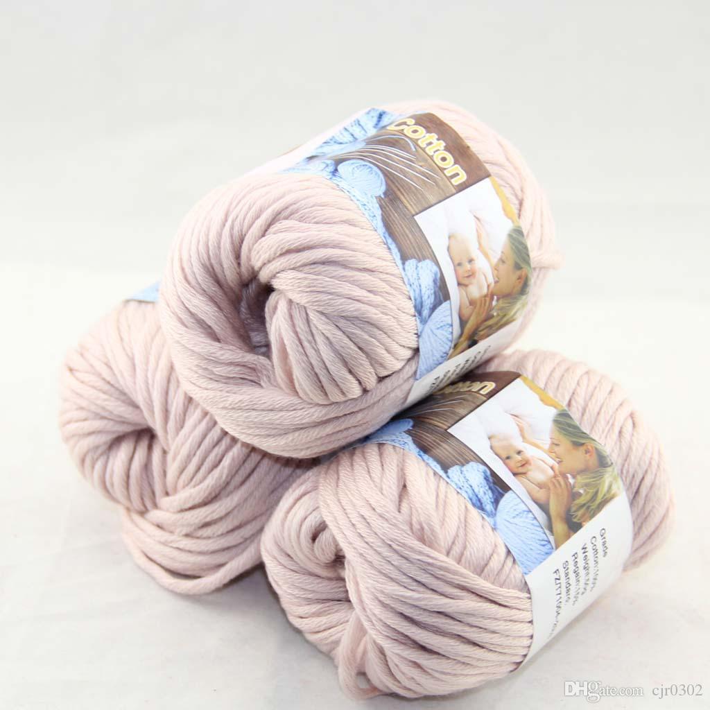 Продажа много 3 BallsX50g специальные толстые камвольно 100% хлопок вязание пряжи белье 42208