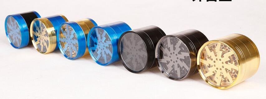Les broyeurs originaux d'alliage de zinc des broyeurs 63mm d'herbe peuvent faire l'OEM avec le broyeur clair supérieur d'éclairage de la fenêtre VS les broyeurs de Sharpstone