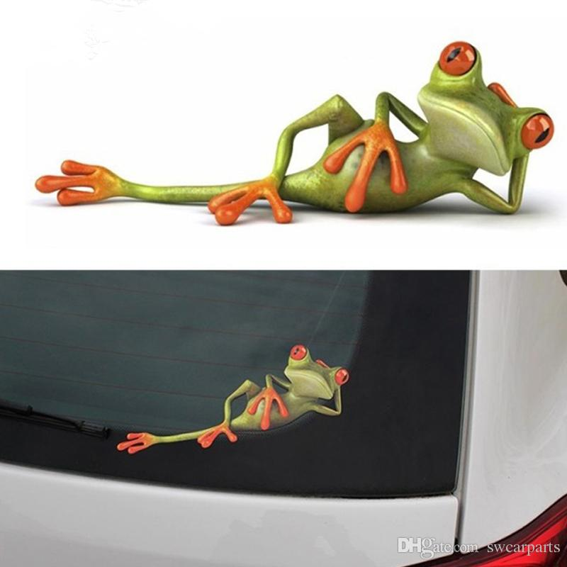3D Frogs Funny Car Stickers car styling New arrival vinyl decal sticker decoration High temperature & water Proof