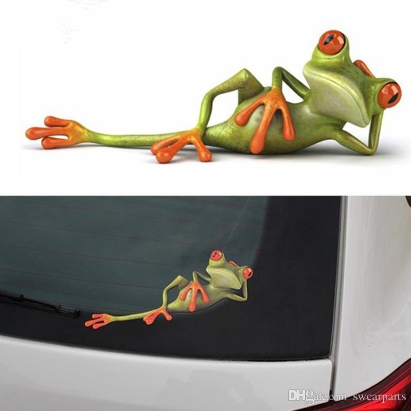 3D Kurbağalar Komik Araba Çıkartmaları araba styling Yeni varış vinil decal sticker dekorasyon Yüksek sıcaklık su Geçirmez