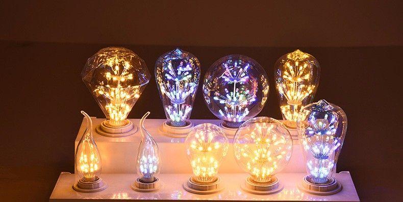 Vintage G80 LED Edison Filament Light Bulb E27 220V Ampolletas Led Light for Home Clear Glass incandescent Warm Yellow Bulb Lamp (2)