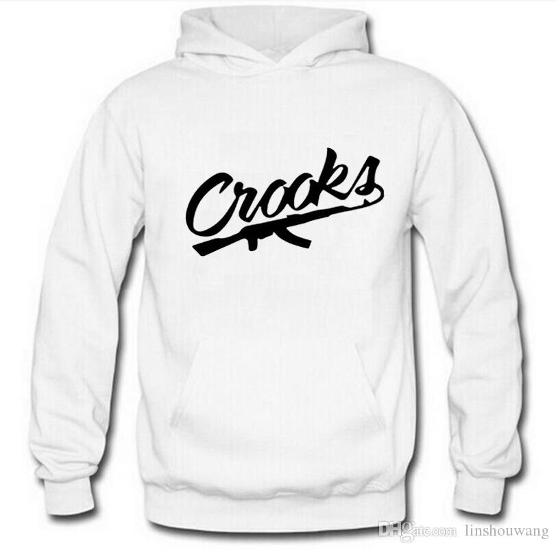 Crooks and Castles Classic Cotton Mens Casual Hoodies Fashion Sweater Long Sleeve Sweatshirt