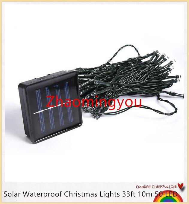 2PCS 100 LED 200 LED extérieure 8 Modes Solaire Guirlande Garden Party de Noël Lampe Fée 10M 22M