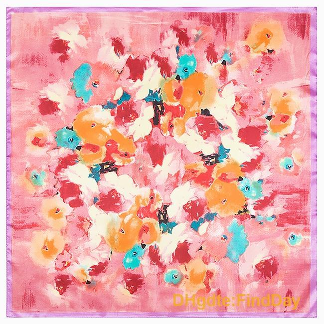 Sénior 60 cm * 60 cm nova primavera flores pintura de seda toalha de seda senhora fuzzy simulação pequena toalha