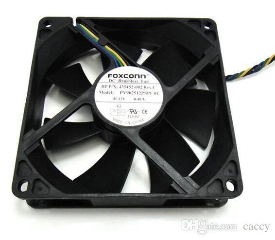 폭스콘 9025 PV902512PSPF 스퀘어 12V 0.4A 4- 와이어와 냉각 팬
