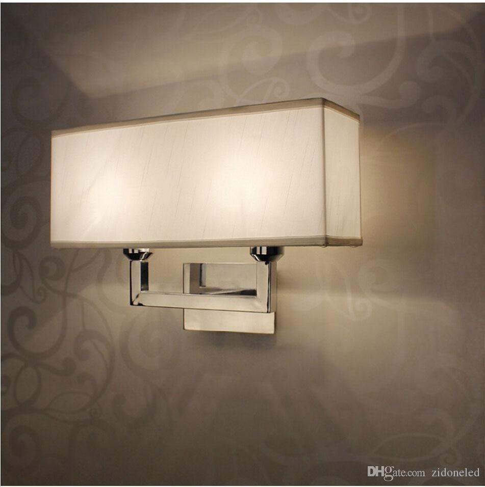 Le fer millésime a mené le mur d'éclairage de mur de tissu d'éclairage de mur de rectangle de lumière de lumière via / étude / foyer pour le placage décoratif