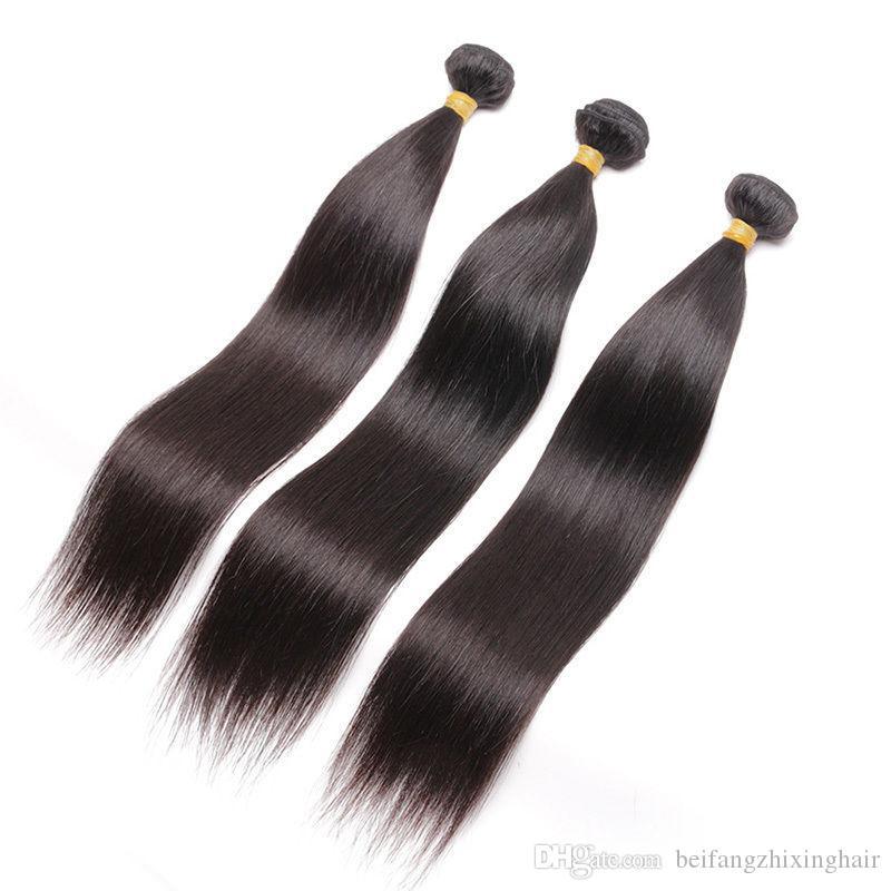 Estensioni malesi brasiliane brasiliane peruviane dei capelli estensioni doppia trama senza spargimento NESSUN groviglio durevole 95g 4pcs