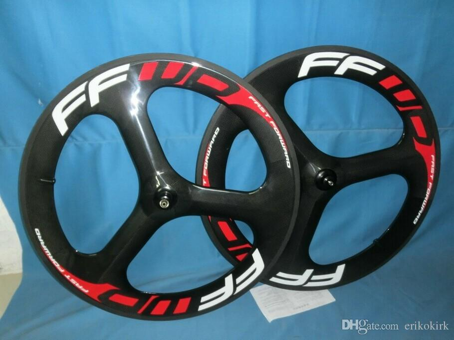 FFWD carbon 3 spoke wheel Tubular/Clincher 700c Carbon Fiber Bike bicycle Wheels racing road cycling wheelset