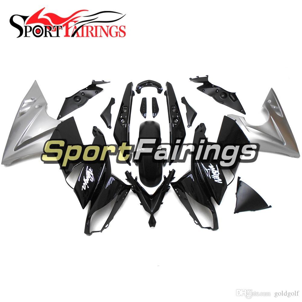 Full Fairings For Kawasaki ER-6f Ninja 650 09 10 11 ER6f 2009-2011 ABS Plastic Motorcycle Fairing Kit Body Frames Cowlings Silver black