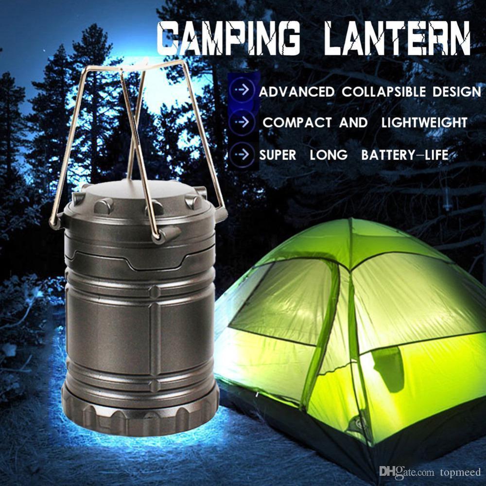 Schwarz Grau Super Helle Leichte 30 LED Camping Laterne Outdoor Portable Lichter Wasserdicht Camping Beleuchtung Lampe