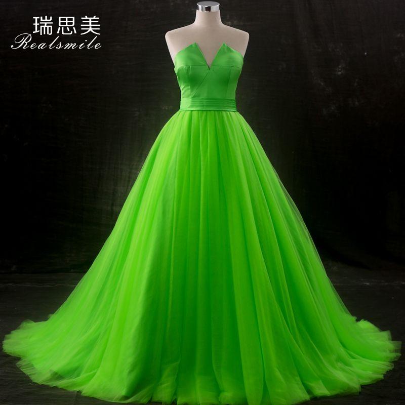 Бальное платье из 100% натуральной зеленой феи
