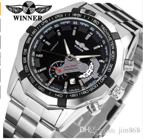 2021 Nowy Moda Mężczyźni Zwycięzca Montre Marka Horloges Mannen Stylowy Szkielet Klasyczne Automatyczne Relogios Zegar Mężczyźni Zegarek Mechaniczny