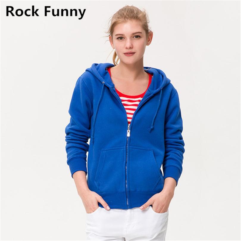 Gros- 2016 Hooded Zipper Automne Hiver Sweatshirts thermique Hommes Femmes XXXL solides Zipper capuche Terry Sweats à capuche Couple Casual Jacket