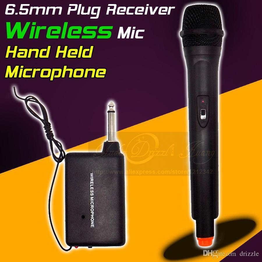 Professionale Microfono Wireless Sistema FM Trasmettitore Ricevitore Palmare Stereo Dinamico Mic Mike Per Karaoke KTV Cantare Computer DJ
