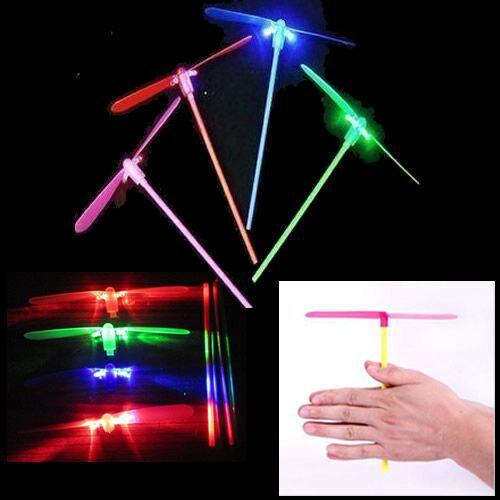 Free Shipping 50pcs/lot Flying Lights Toys LED Flash Bamboo Dragonfly Flying Rotor Led Toy Gift New Educational Toys YH12453
