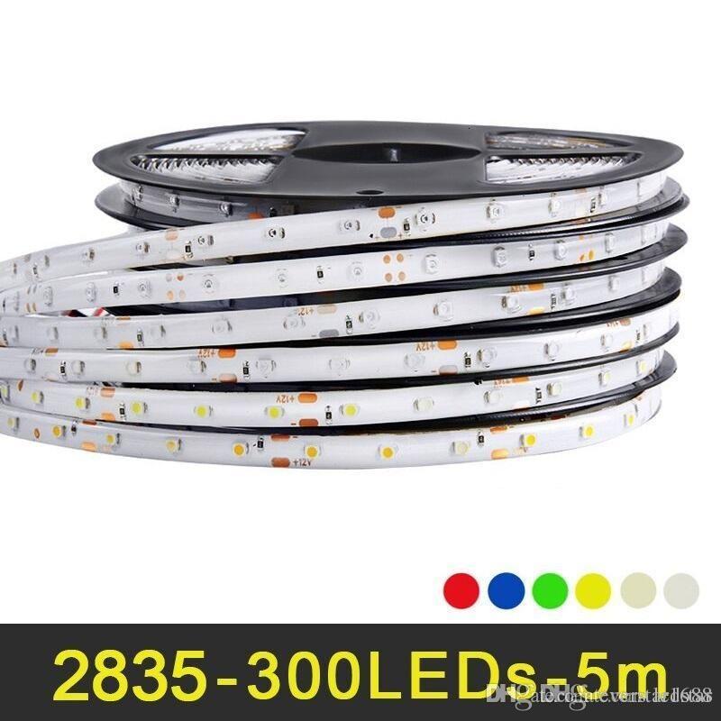 5M 300 LED RGB LED Streifenlicht 2835 SMD Dekorationslampe Hoher Lichtstrom Mehr als 3528 Niedrigerer Preis als 5050 5630 SMD