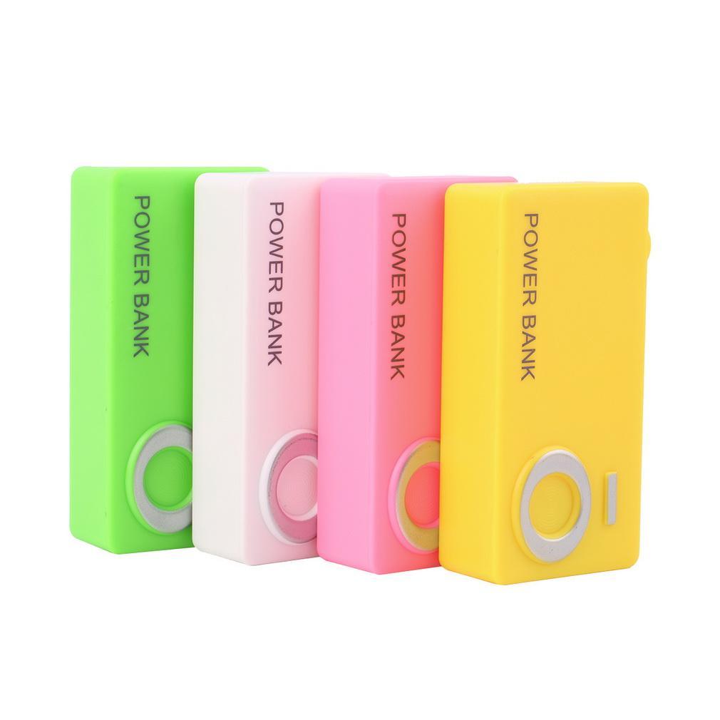 Forme de la carte de l'appareil photo pour 2 x 18650 USB Mobile Power Chargeur de batterie Banque d'alimentation Powerbank Box Case bricolage gros Solderless