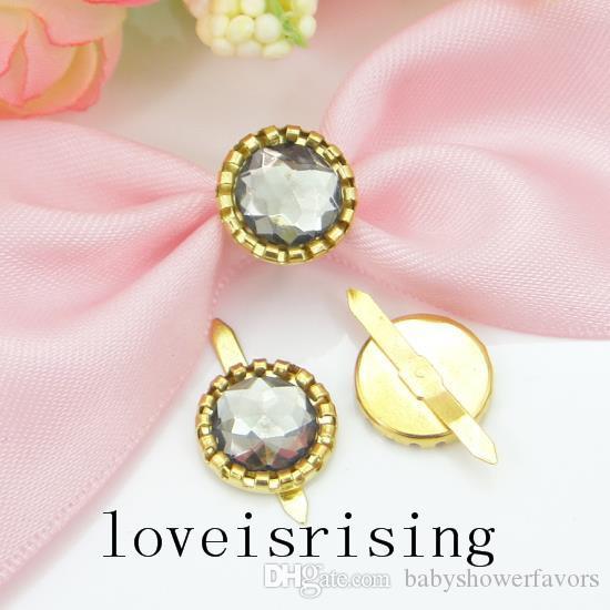 16 couleurs que vous choisissez - 50pcs perles acryliques plaqué or Brads papier attache pour boîte de faveur de mariage décor Scrapbooking bricolage artisanat