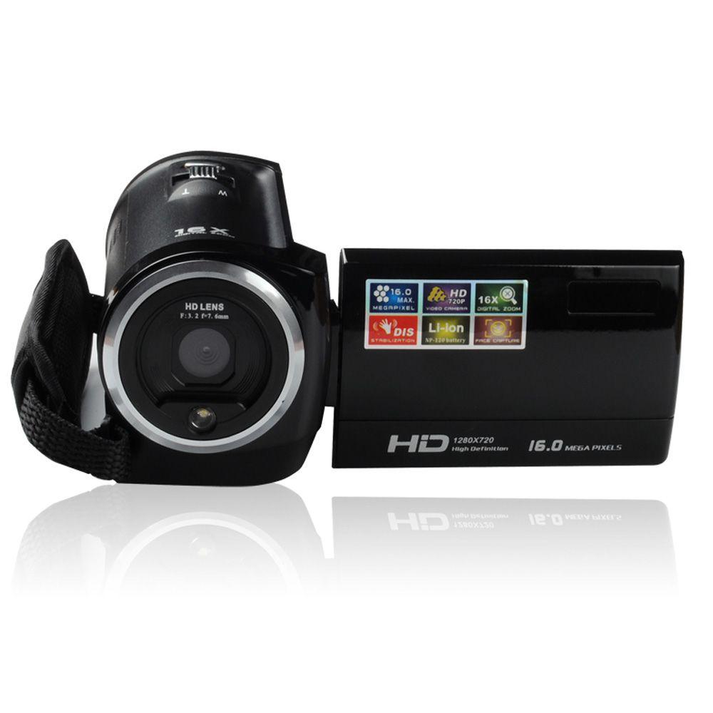 2016 nouvelle caméra DV Cam HD caméscope HD 720P 16MP DVR 2.7 '' TFT LCD écran 16x ZOOM caméscope numérique