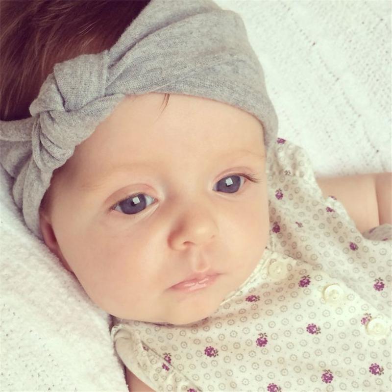 9 ألوان الوليد الطفل الفتيات مرونة القطن رباطات الرضع الاطفال عقدة hairbands الأطفال أغطية الرأس اكسسوارات للشعر KHA228