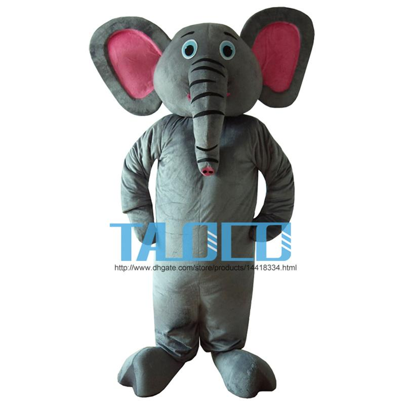 Grey Elephant Costume/Pink Eye Elephant Mascot Costume