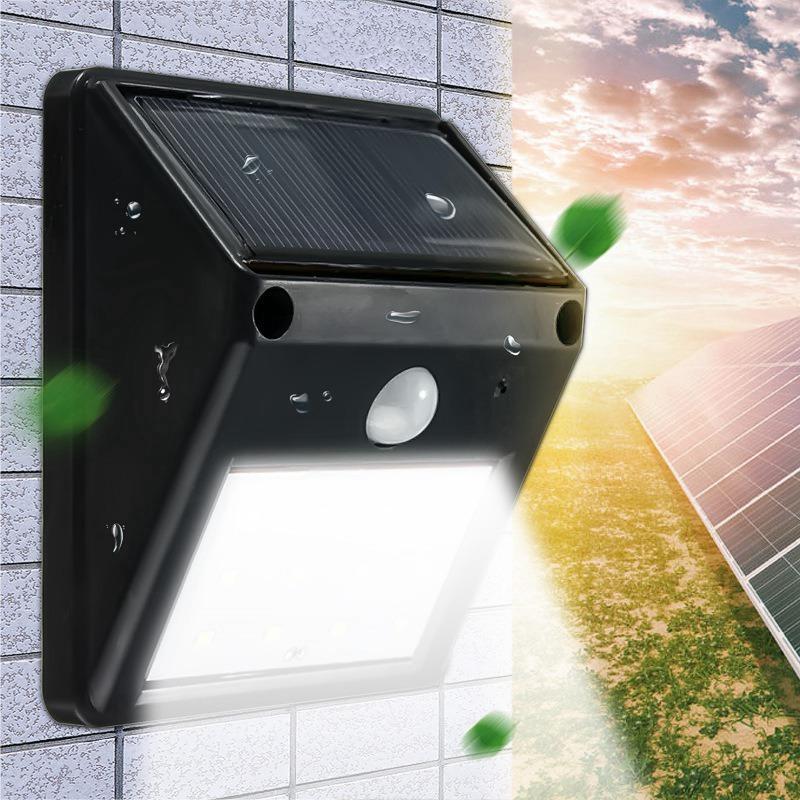 12 LED étanche IP65 solaire alimenté sans fil PIR capteur capteur de lumière extérieure jardin paysage cour lampe de mur de sécurité
