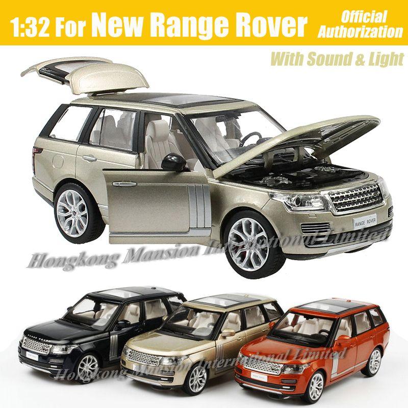 1:32 escala de luxo diecast liga modelo de carro de metal para nova gama rover coleção off-road modelo de veículo toys carro