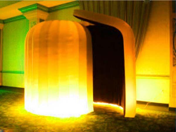 Mudança de alta qualidade da barraca inflável da foto da barraca da cor para exposição com ventilador de ar livre