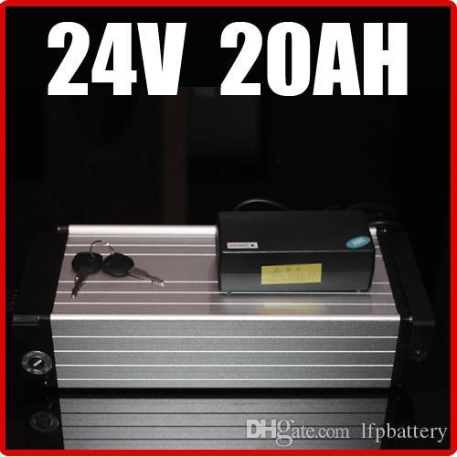 24V 20AH Elektrische Fahrrad-Lithium-Batterie, 29.4 Gepäckträger Aluminiumlegierung E-Bike-Roller-Batterie