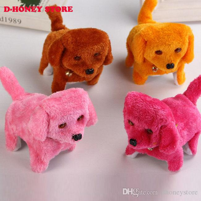 Cute Electric Short Floss Dog Toys Electric Dog Walking Barking Toy Moving Dog