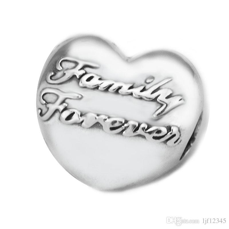 Pandulaso семейный союз клип в форме сердца клип бусины для изготовления ювелирных изделий подходят Пандора браслеты ожерелье женщина DIY ювелирных изделий