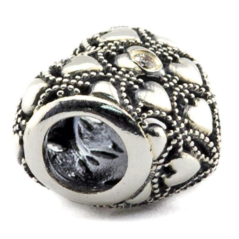 Club Charm 2016 splende il cuore 2016 estate 100% 925 Sterling Silver Beads Charms Fit Pandora Bracelet autentici gioielli Bead moda fai da te