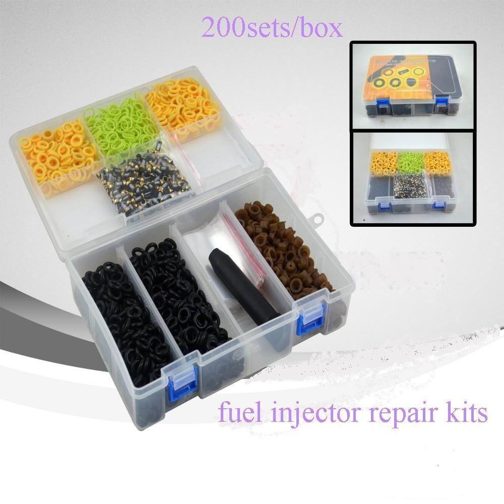 Kit de réparation d'injecteur de carburant de type universel, 200sets / box / box en plastique
