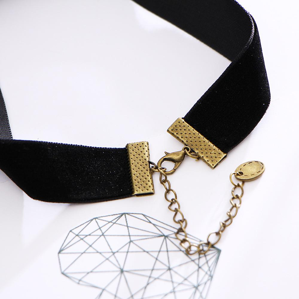 ornate black w charm gothic choker chokers chains original collar collections necklace lace victorian crochet products goth necklaces beads pendant