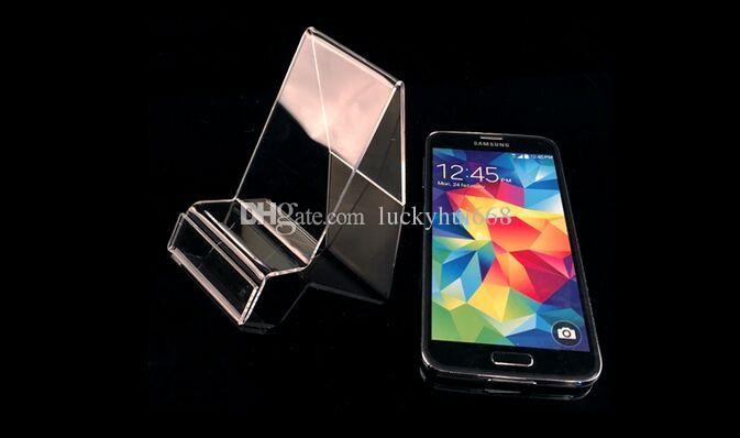 Hot sale Multifunction Clear Acrylic Mobile cell Phone U Disk Jewelry Display Stand Holder Digital Products Purse Wallet Rack 5pcs