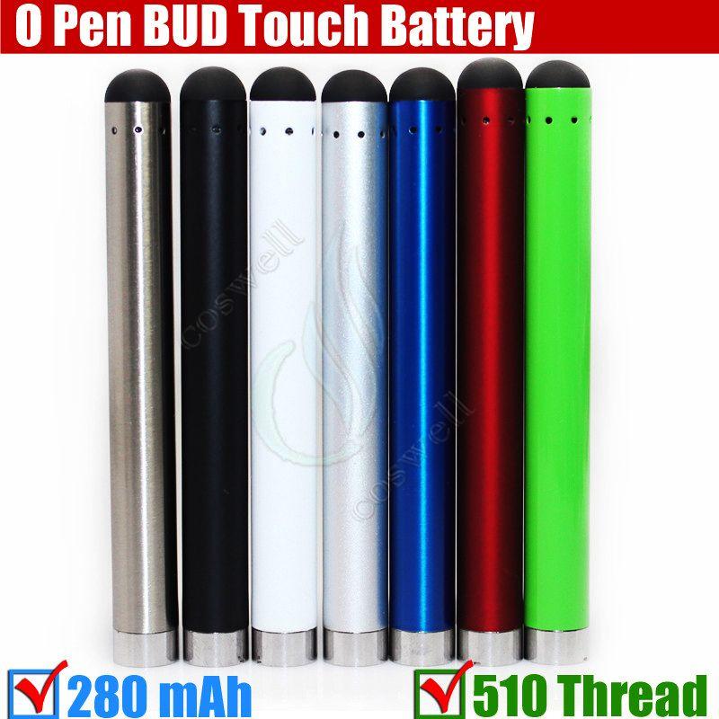 Bud touch Colorful battery 280mah 510 Thread O Pen CE3 atomizers vape thick Oil thick Waxy Smoking wax Tank mini e cig Cigarettes vapor kits