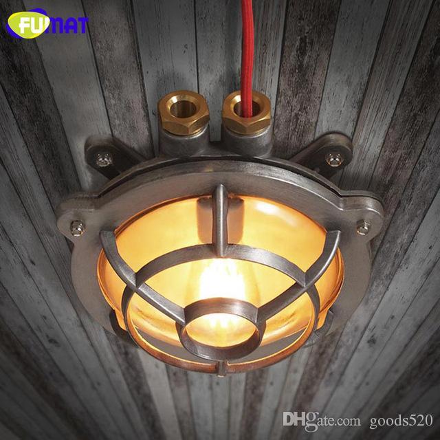 FUMAT Gas Stove Shape Ceiling Lights American Industrial Vintage Ceiling Lamps for Restaurant Waterproof Iron Bathroom Lamp