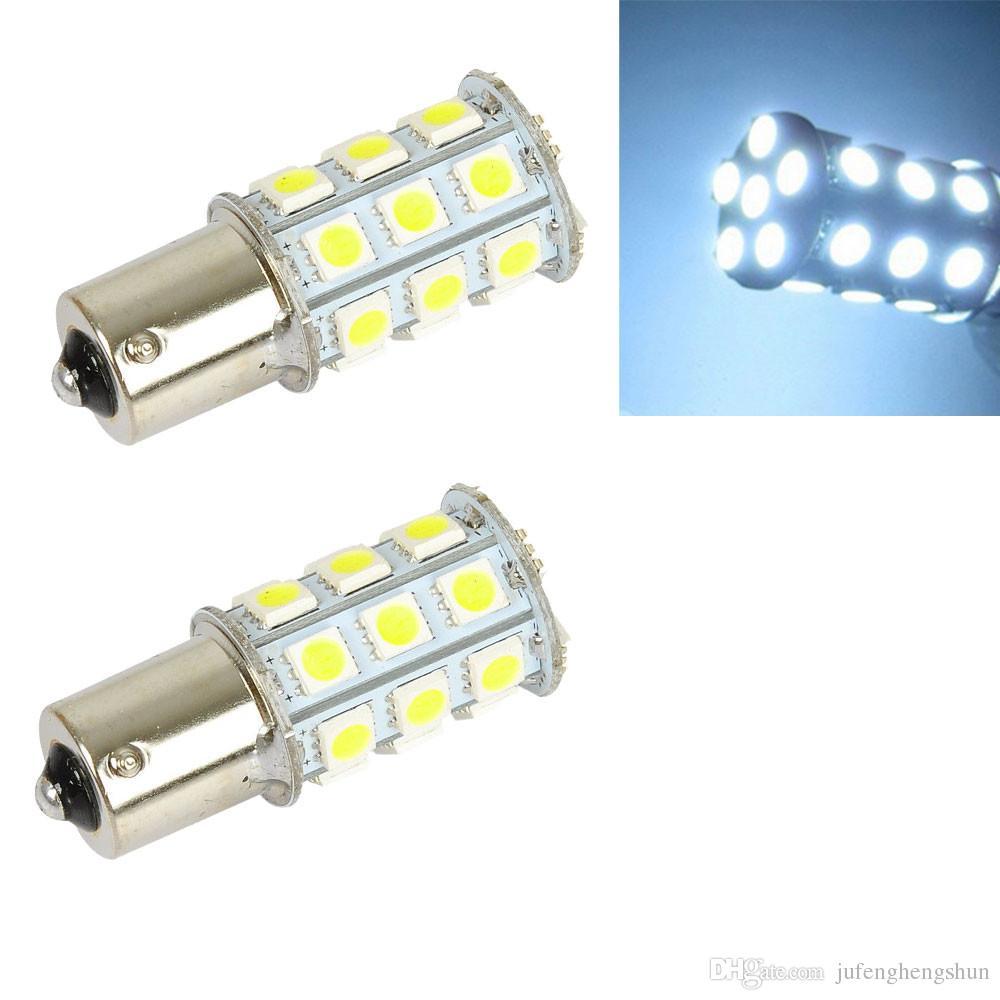 10Pcs 1156 Ba15s LED 자동차 전구 27 LED 5050 SMD DC 12V 백색 LED 전구 회전 신호 주차 사이드 마커 테일 라이트 범용 자동 램프