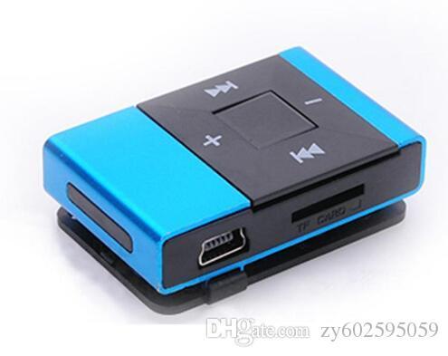 10pcs/lot Protable Mini USB Clip Digital Mp3 Music Player Support 8GB SD TF Card