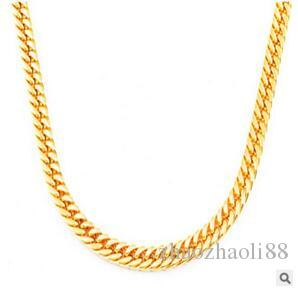 MEN HEAVY 14K GOLD FINISH MIAMI CUBAN LINK CHAIN NECKLACE