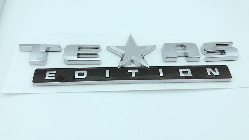4 couleurs voiture insigne Texas Edition Logo pour Chevrolet Chevrolet Silverado arrière coffre emblème de coffre emblème