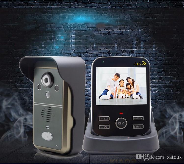 3.5 Inch Wireless Video Door Phone PIR Motion Detection Micro SD Card Night Vision Photo Taking