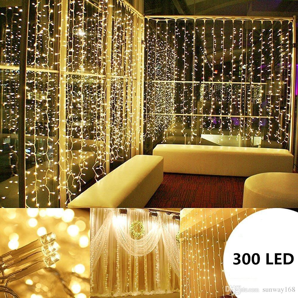 3M LED String Fairy Lights Net Mesh Curtain Xmas Wedding Party Outdoor Home