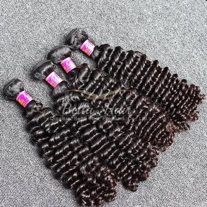 Brand Original Hair! 2pcs/Lot 7A 10~24inch Deep Wave Hair Weaves Unprocessed Peruvian Human Hair Extensions Free Shipping