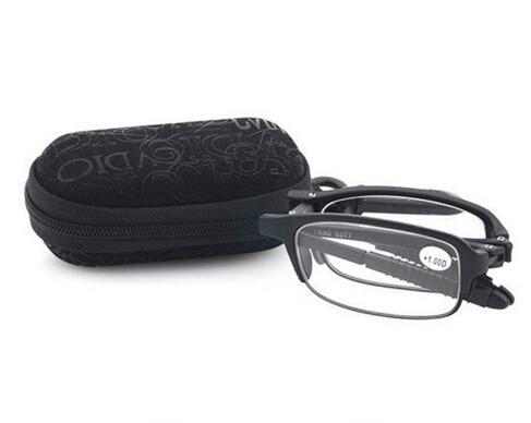 2016 خصم كبير المحمولة للطي tr90 إطار الراتنج عدسة نظارات القراءة uv حماية للمسنين قارئ مع مربع