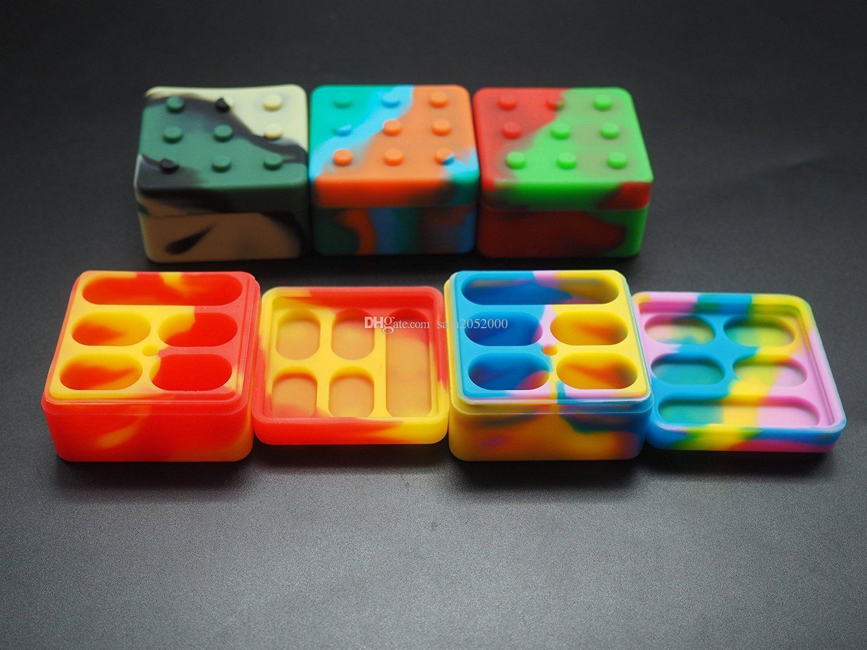 100pcslot одобрен качественный антипригарные силиконовый воск контейнеры для хранения силиконового воска банка
